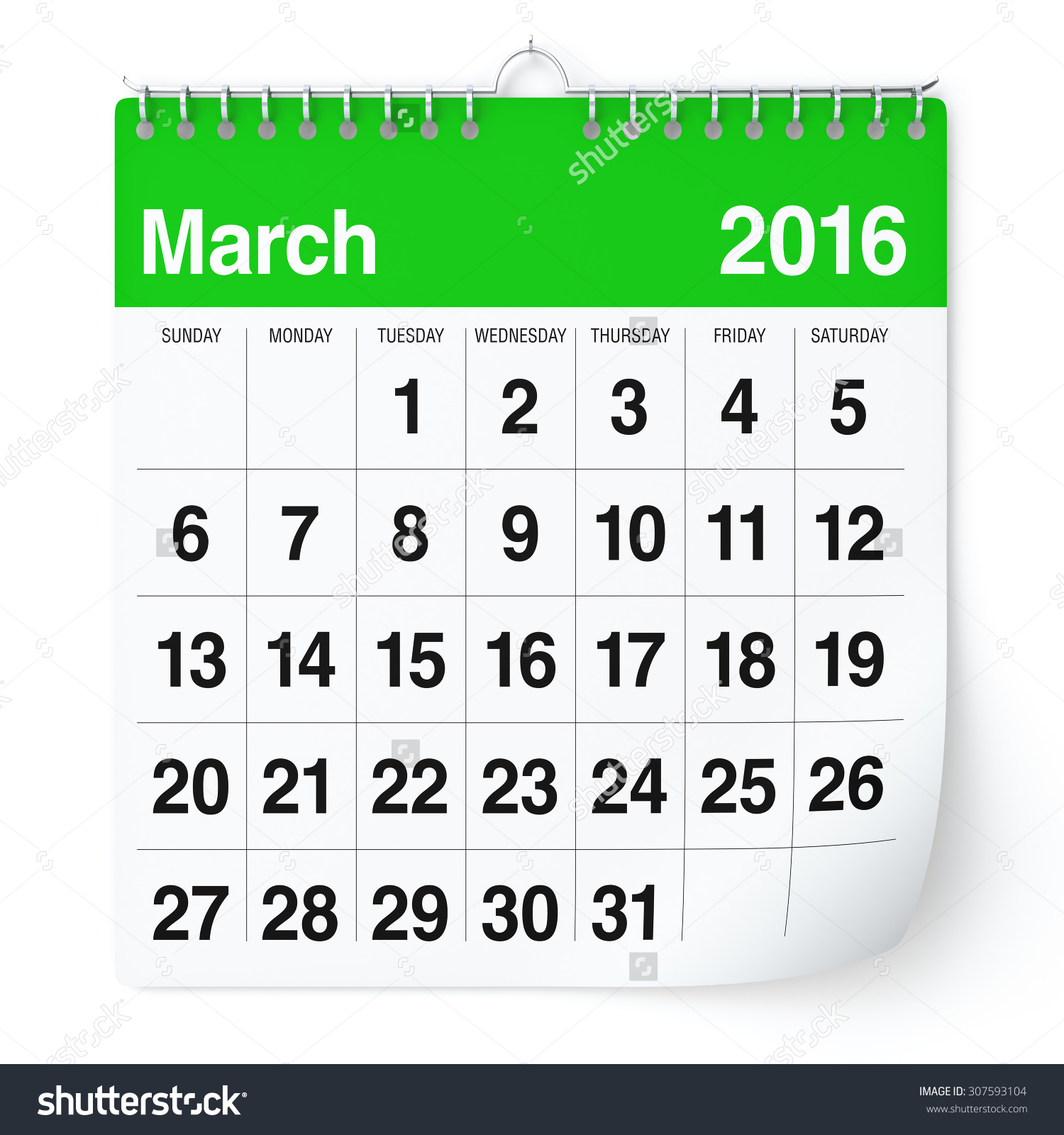 March 1 calendar page clipart - ClipartFest banner freeuse