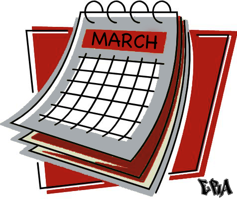 March Calendar Clipart - Clipart Kid image freeuse download