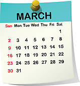 Calendar clipart march freeuse library March Calendar Clip Art - Royalty Free - GoGraph freeuse library