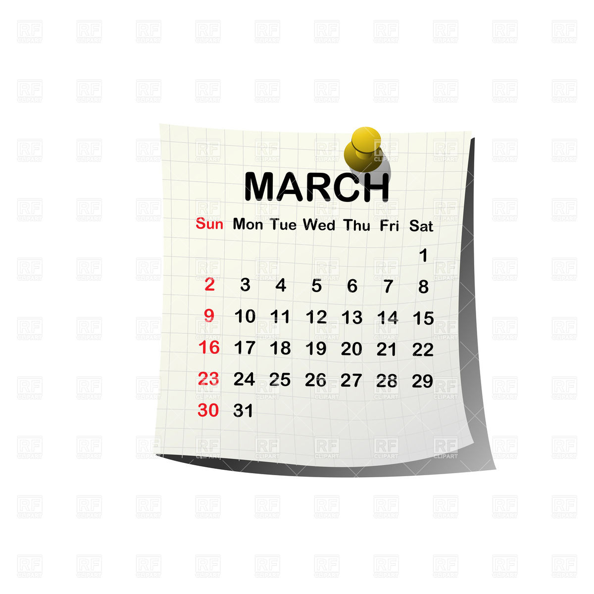 Calendar clipart march freeuse download March Calendar Clipart - Clipart Kid freeuse download