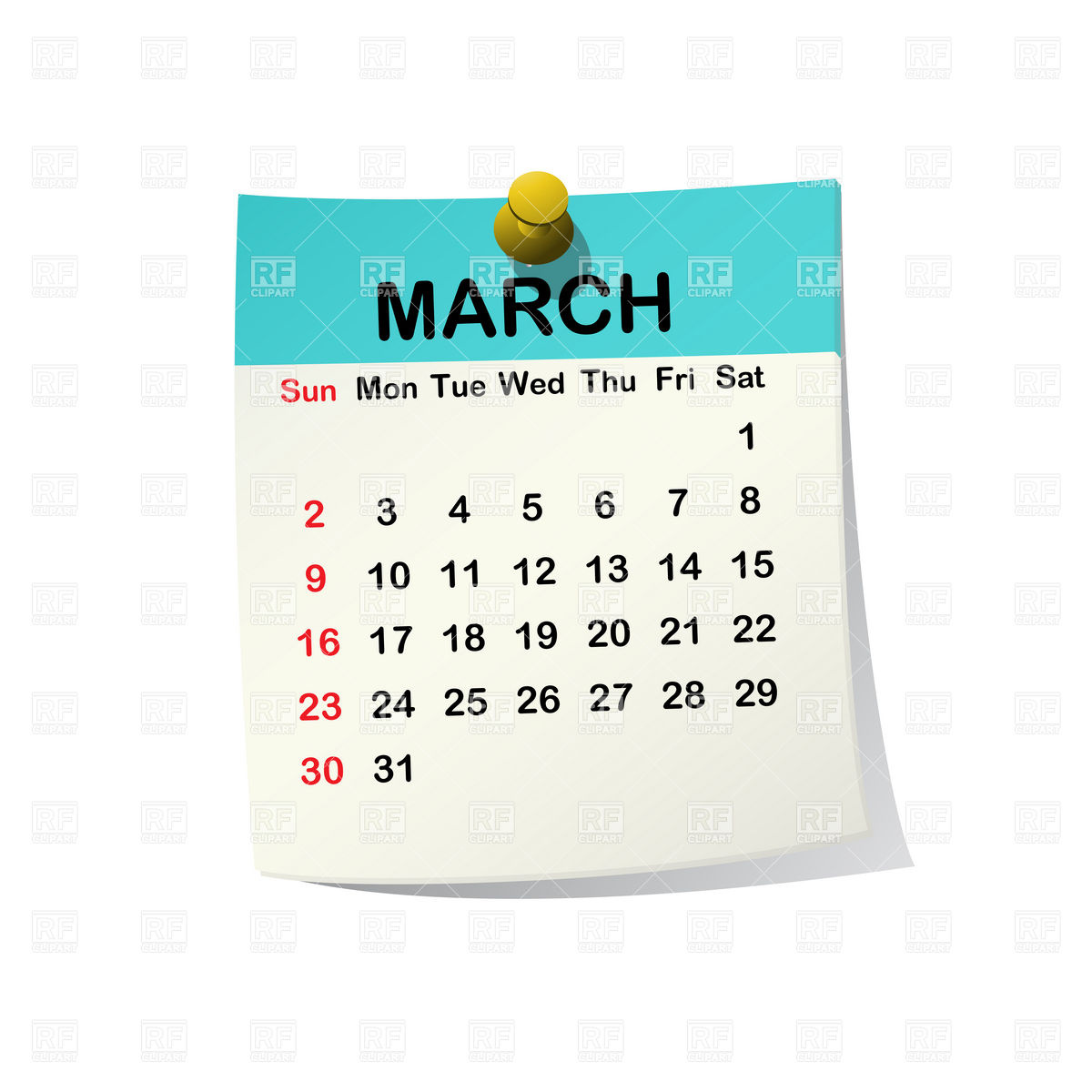 March Calendar Clipart - Clipart Kid clip art freeuse stock