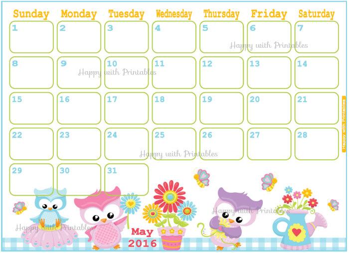 Calendar clipart may 2016 svg free Pretty may 2016 calendar clipart - ClipartFest svg free