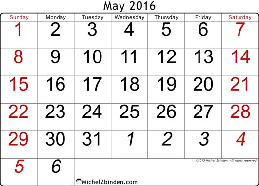 Calendar clipart may 2016 black and white stock Calendar clipart may 2016 - ClipartFest black and white stock