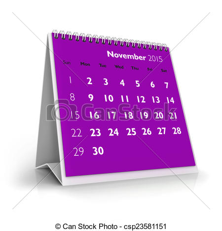 Calendar clipart november 2015 graphic freeuse Stock Illustrations of November 2015 Calendar in white background ... graphic freeuse