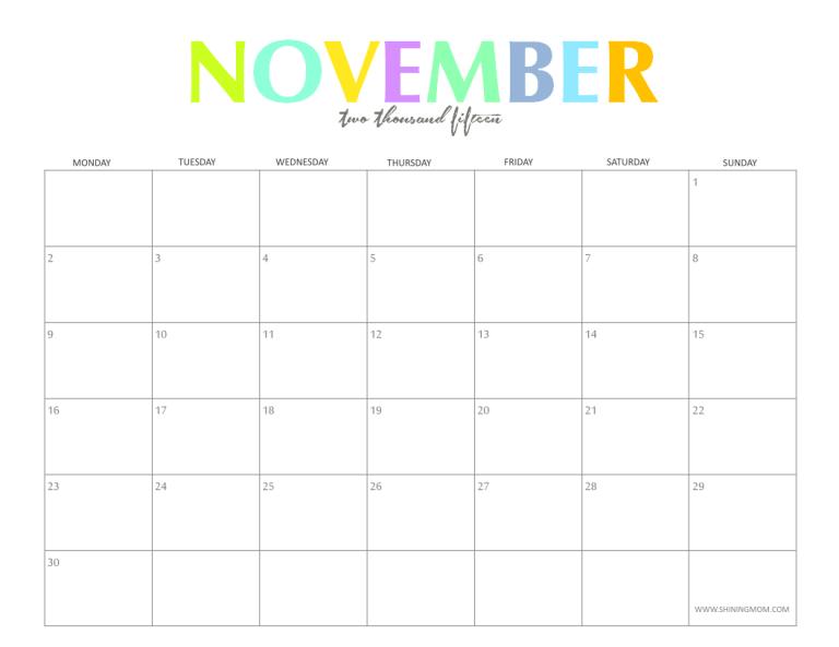Calendar clipart november 2015 clip art free library 17 Best ideas about Blank Calendar Template 2015 on Pinterest ... clip art free library