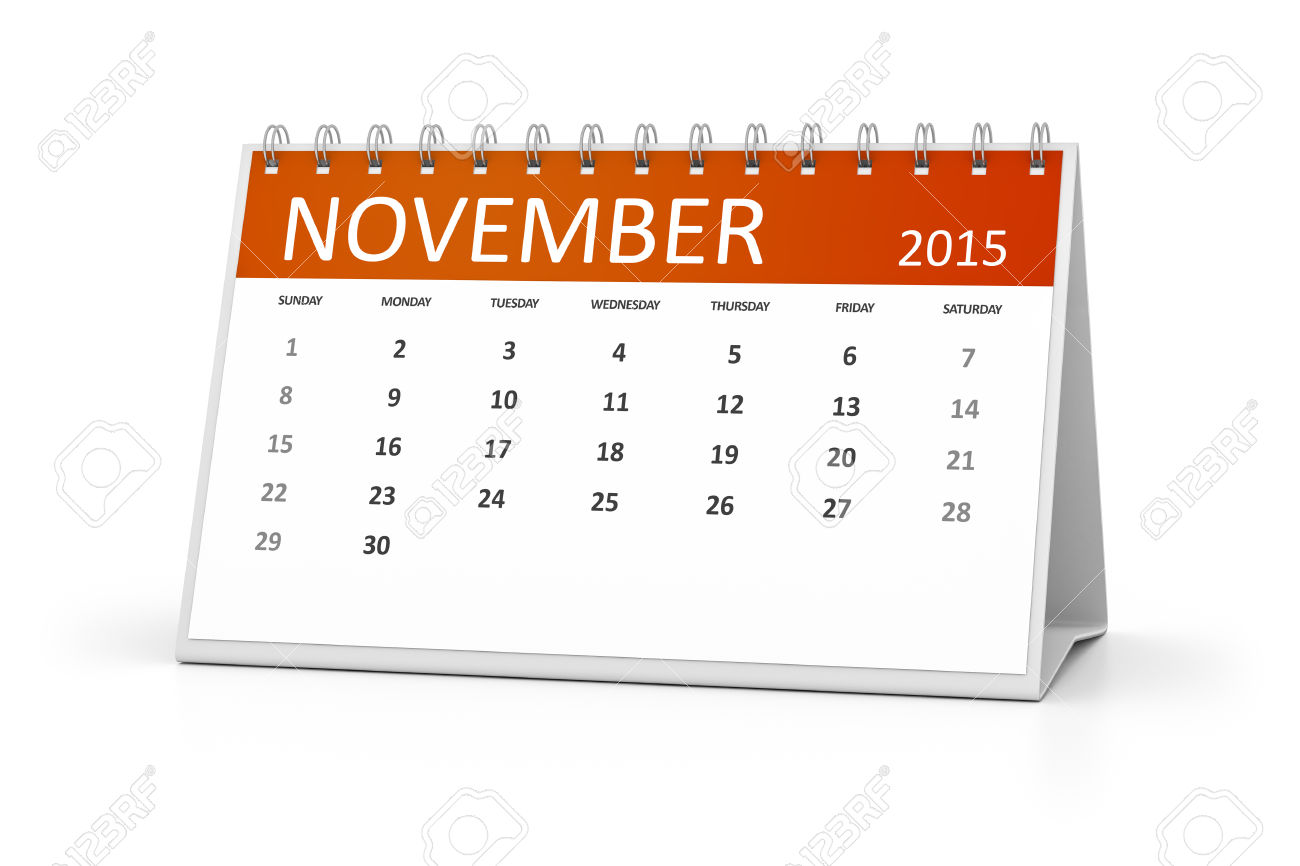 Calendar clipart november 2015 svg freeuse download An Image Of A Table Calendar For Your Events November 2015 Stock ... svg freeuse download
