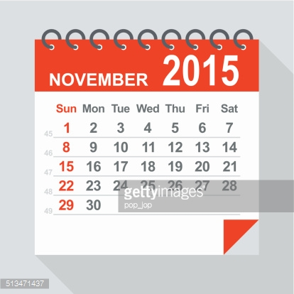 Calendar clipart november 2015 free December 2015 Calendar Illustration Vector Art | Getty Images free