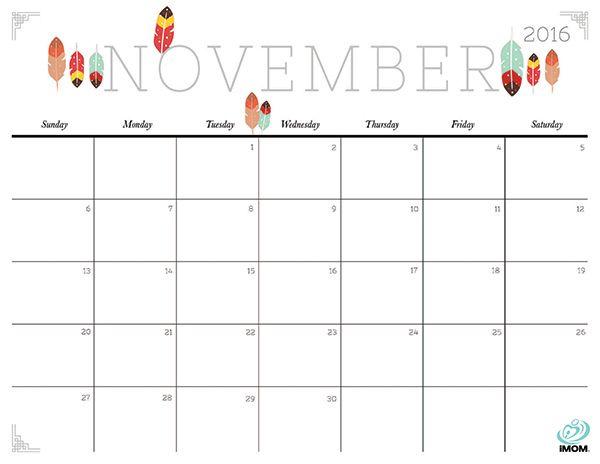 Calendar clipart november 2016. Blank design free cute