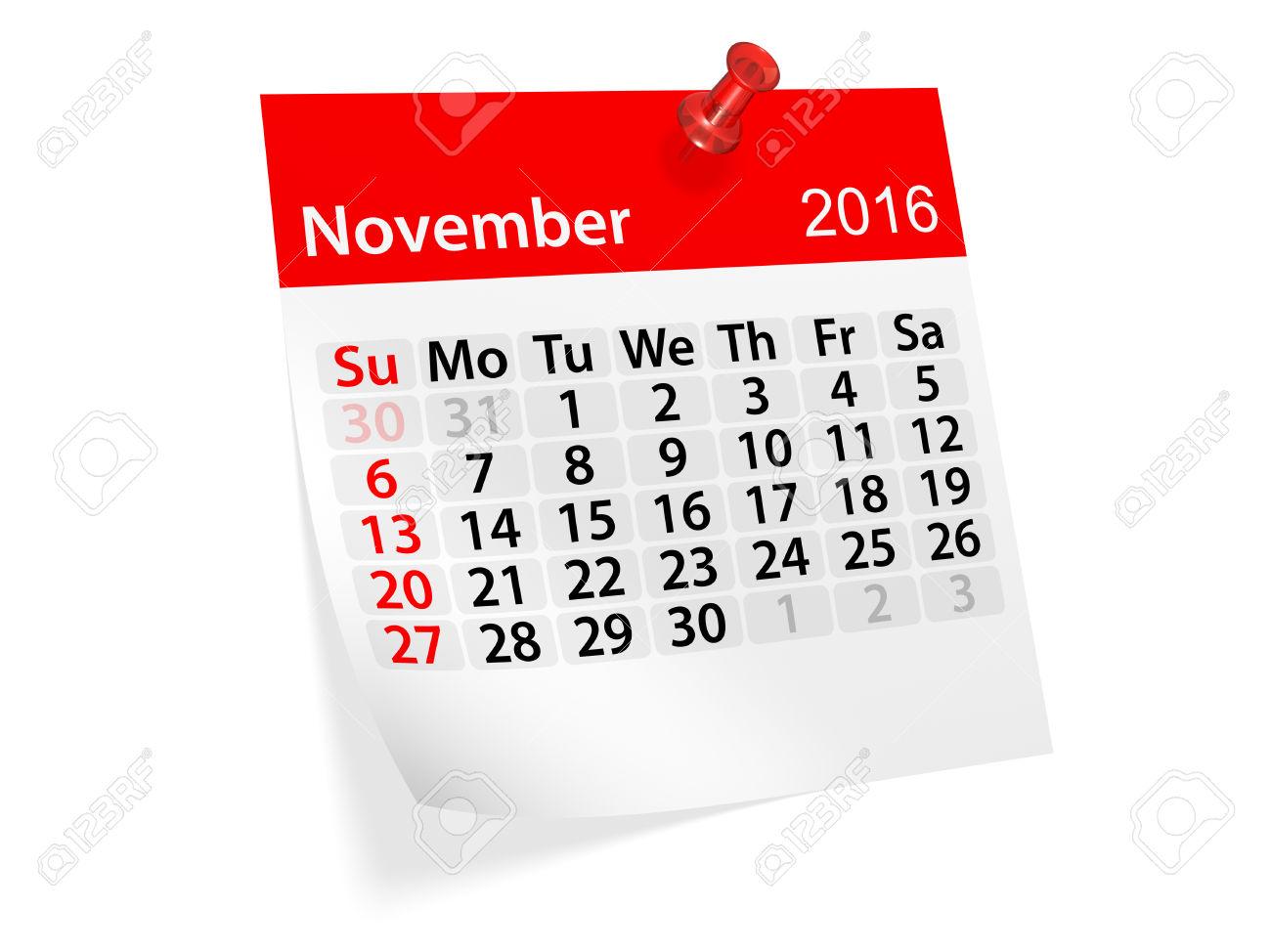 Clipartfest monthly for . Calendar clipart november 2016
