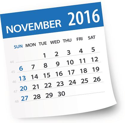 Calendar clipart november 2016. Clip art vector images