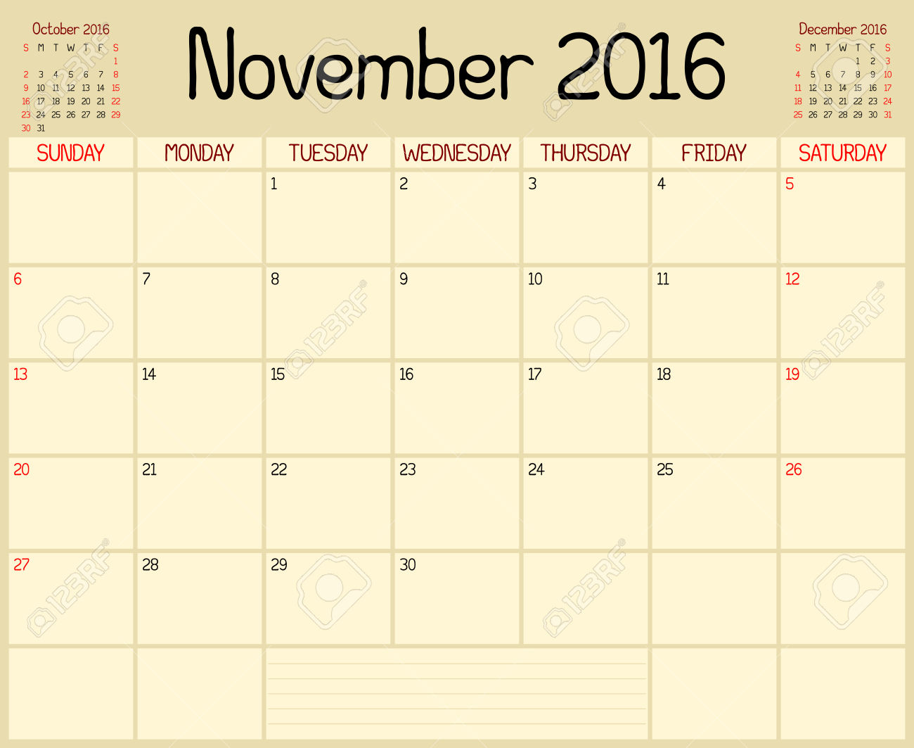 Monthly clipartfest vector year. Calendar clipart november 2016