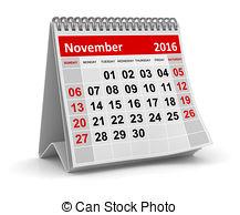 Illustrations and clip art. Calendar clipart november 2016