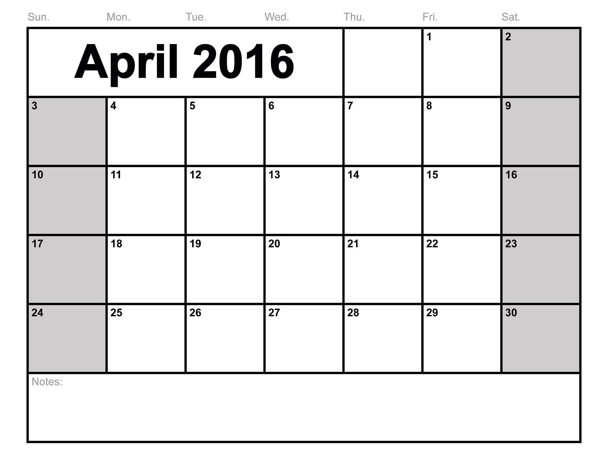 Printable tiger blank and. Calendar clipart november 2016