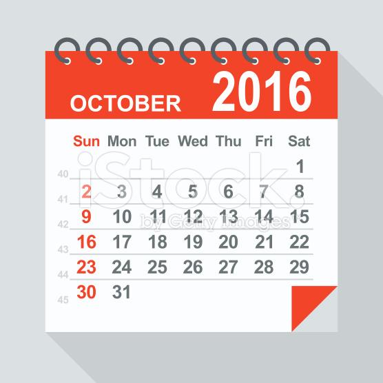 Calendar clipart october 2016 banner freeuse stock 2016 Calendar Clipart banner freeuse stock