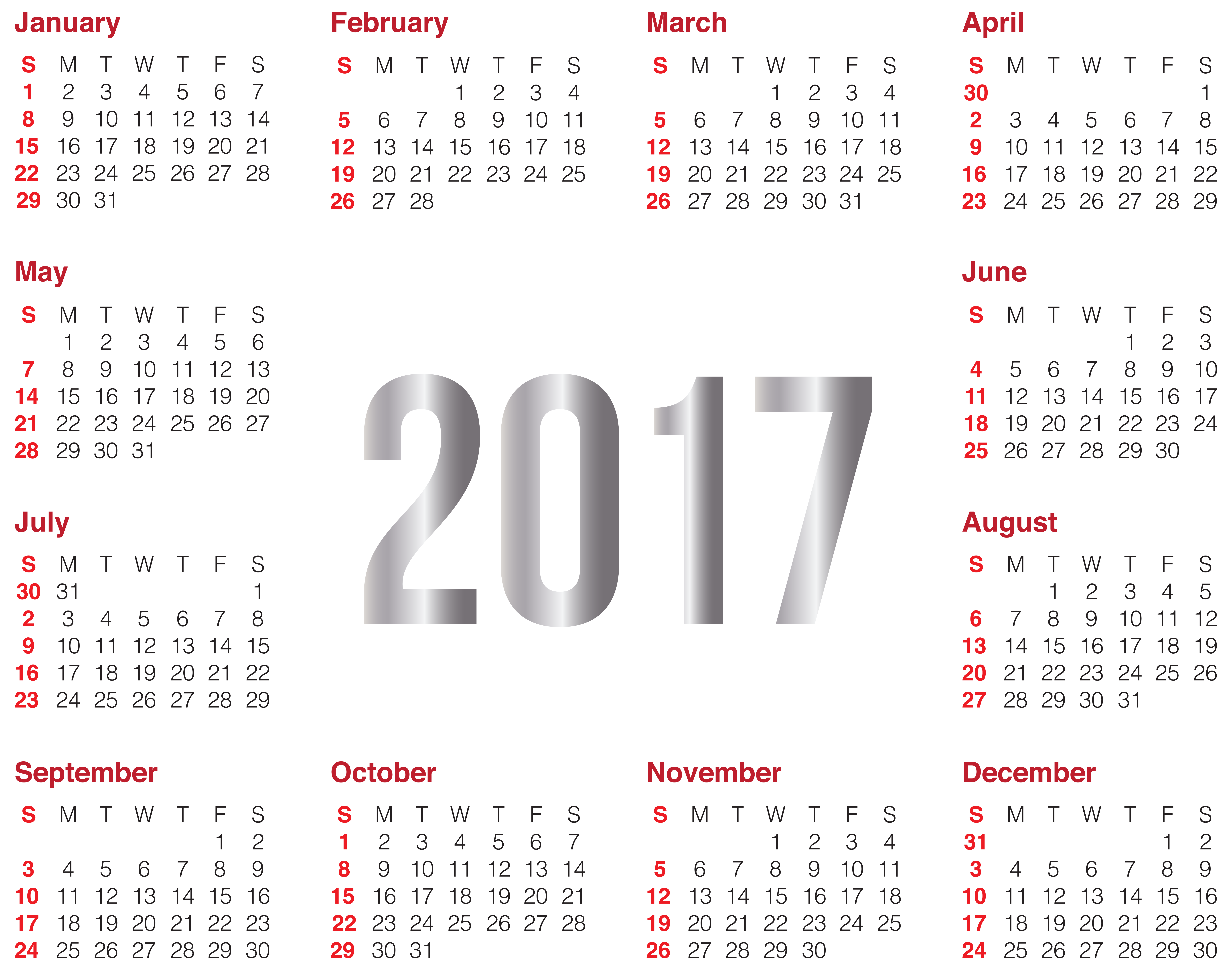 February calendar heading clipart image free library 2017 Transparent Calendar PNG Clip Art Image image free library