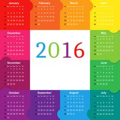 Calendar clipart png transparent graphic transparent download Transparent Calendar for 2016 PNG Clipart Image | Projects to Try ... graphic transparent download