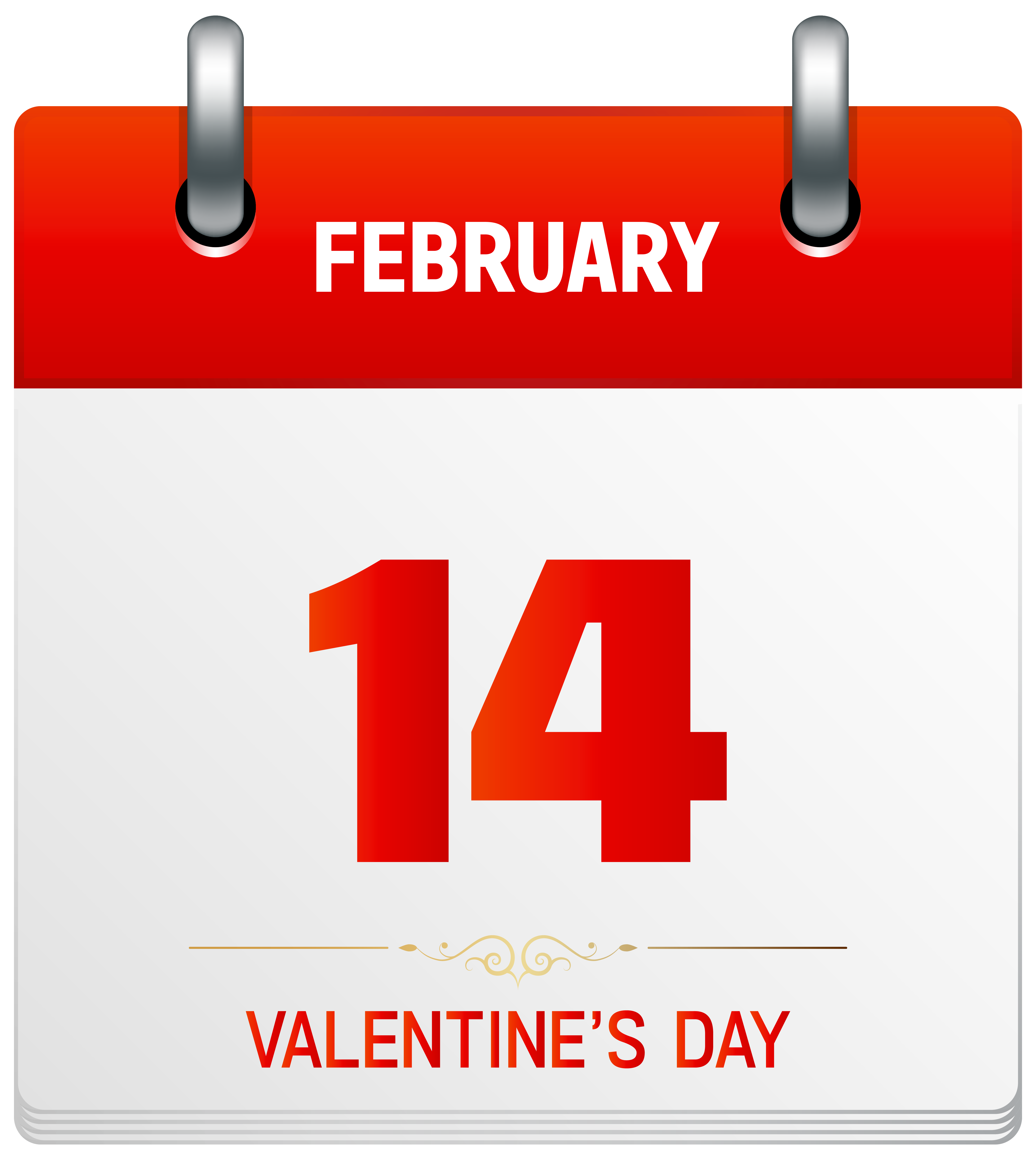 Calendar clipart png transparent png free stock Valentine's Day Calendar Transparent PNG Clip Art Image png free stock