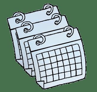 Calendar clipart transparent background clipart black and white Calendars Clipart transparent PNG - StickPNG clipart black and white