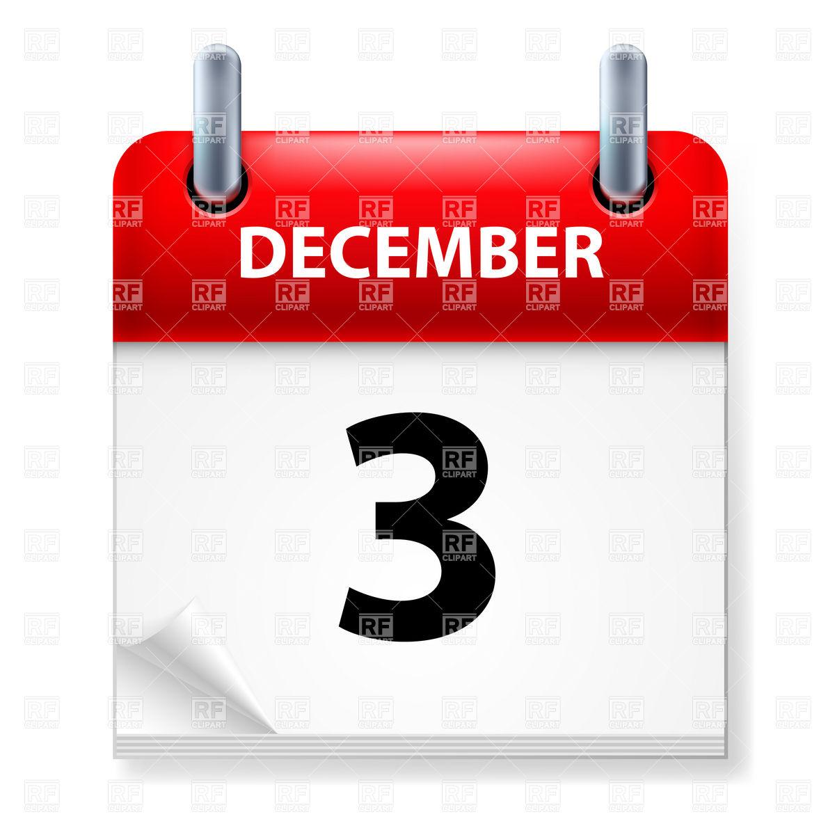 Clipartfest icon . Calendar december 3 clipart