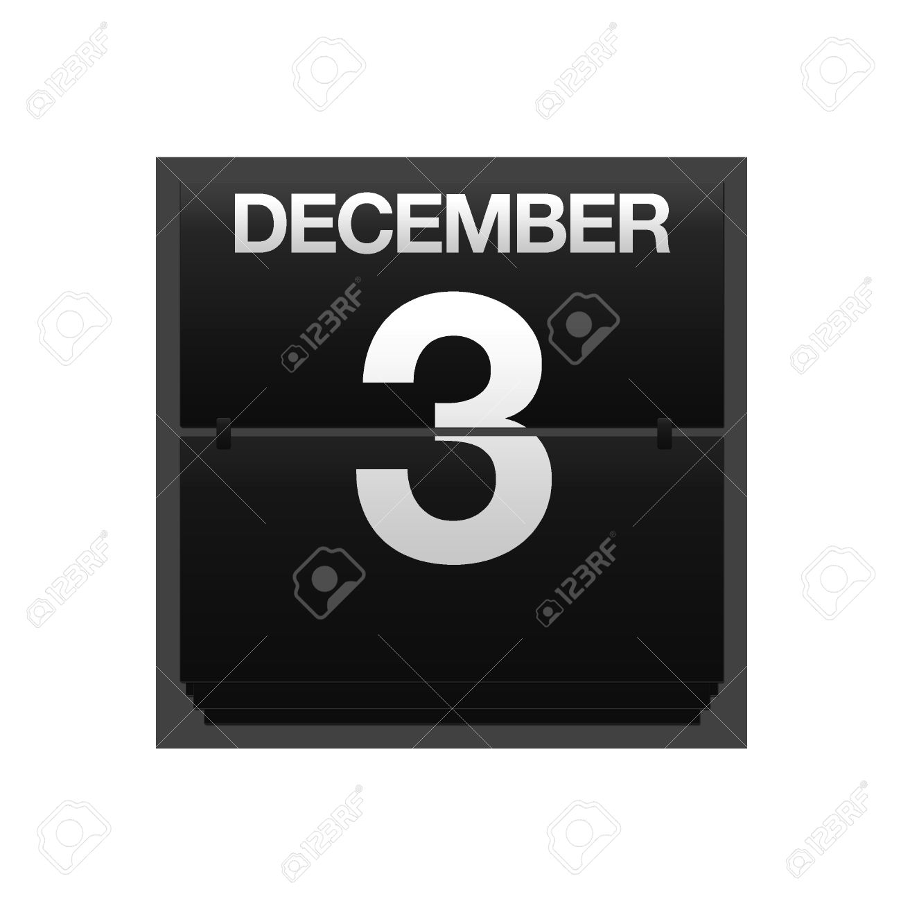 Calendar december 3 clipart vector library library Illustration With A Counter Calendar December 3 Stock Photo ... vector library library