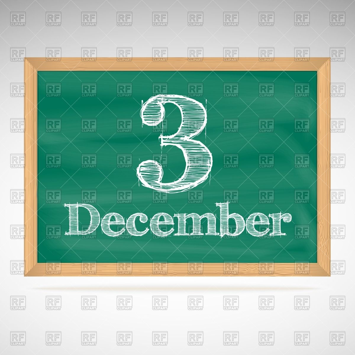 Calendar december 3 clipart clipart royalty free download School chalkboard calendar with inscription in chalk December 3 ... clipart royalty free download