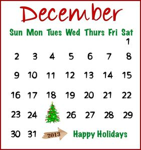 Calendar december 3 clipart jpg library stock December date calendar clipart - ClipartFest jpg library stock