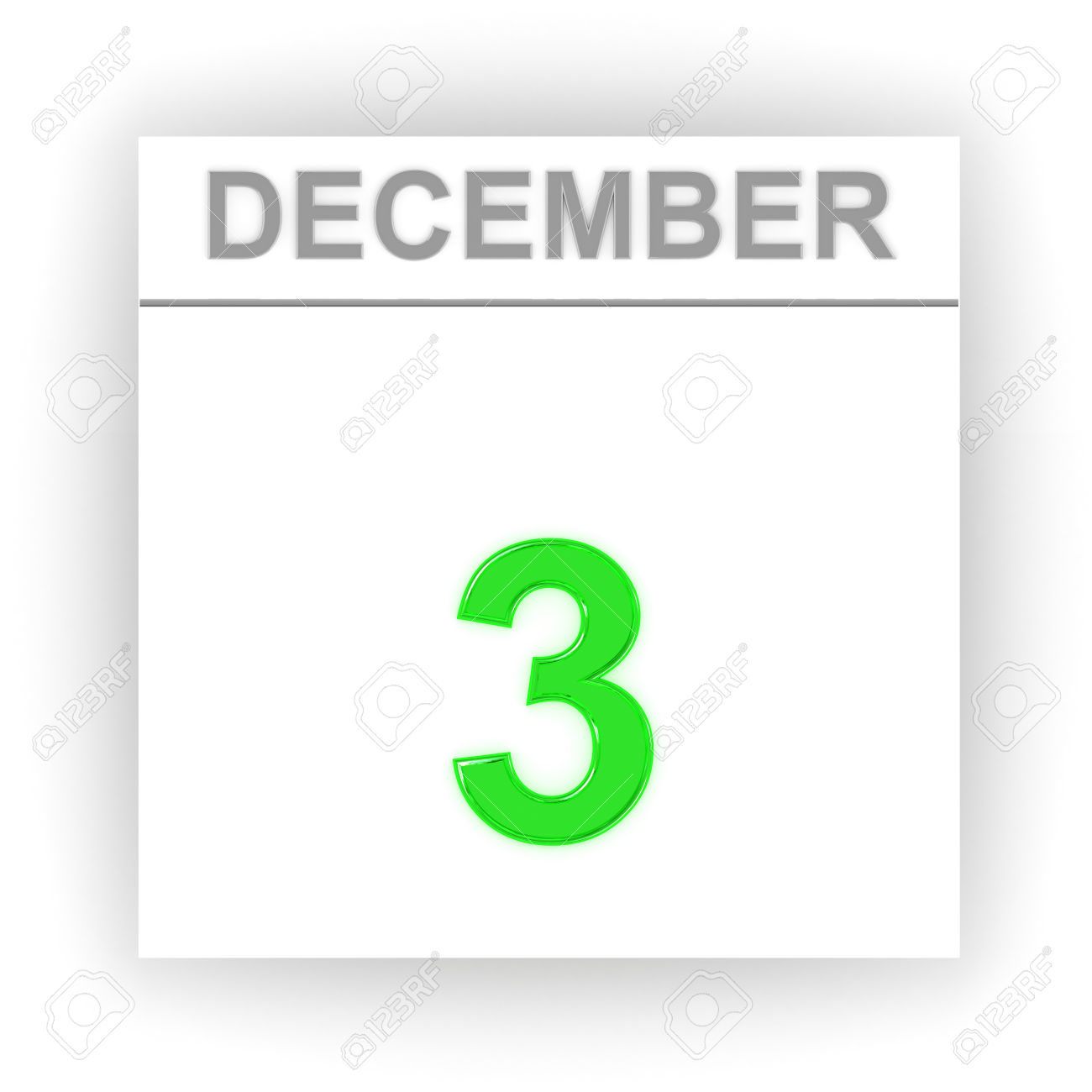 Calendar december 3 clipart clip transparent stock December 3. Day On The Calendar. 3d Stock Photo, Picture And ... clip transparent stock
