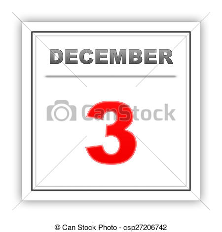 Calendar december 3 clipart vector transparent stock Drawing of December 3. Day on the calendar. 3d csp27206742 ... vector transparent stock