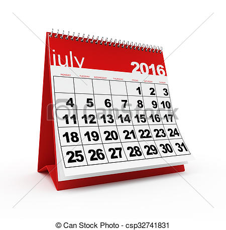 Calendar july 2016 clipart jpg free download Drawings of July 2016 calendar - July 2016 monthly calendar on ... jpg free download