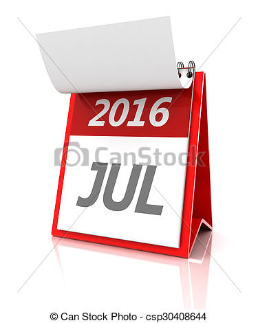 Calendar july 2016 clipart banner royalty free Drawing of July of 2016 calendar, 3d render - 2016 July calendar ... banner royalty free