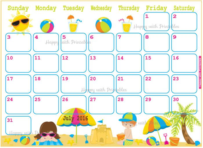 Calendar july 2016 clipart jpg library library 17 Best images about 2017 Calendar on Pinterest   January 2016 ... jpg library library