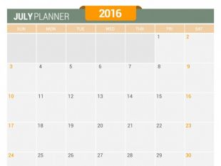 Calendar july 2016 clipart svg Editable Calendar July 2016   free vectors   UI Download svg