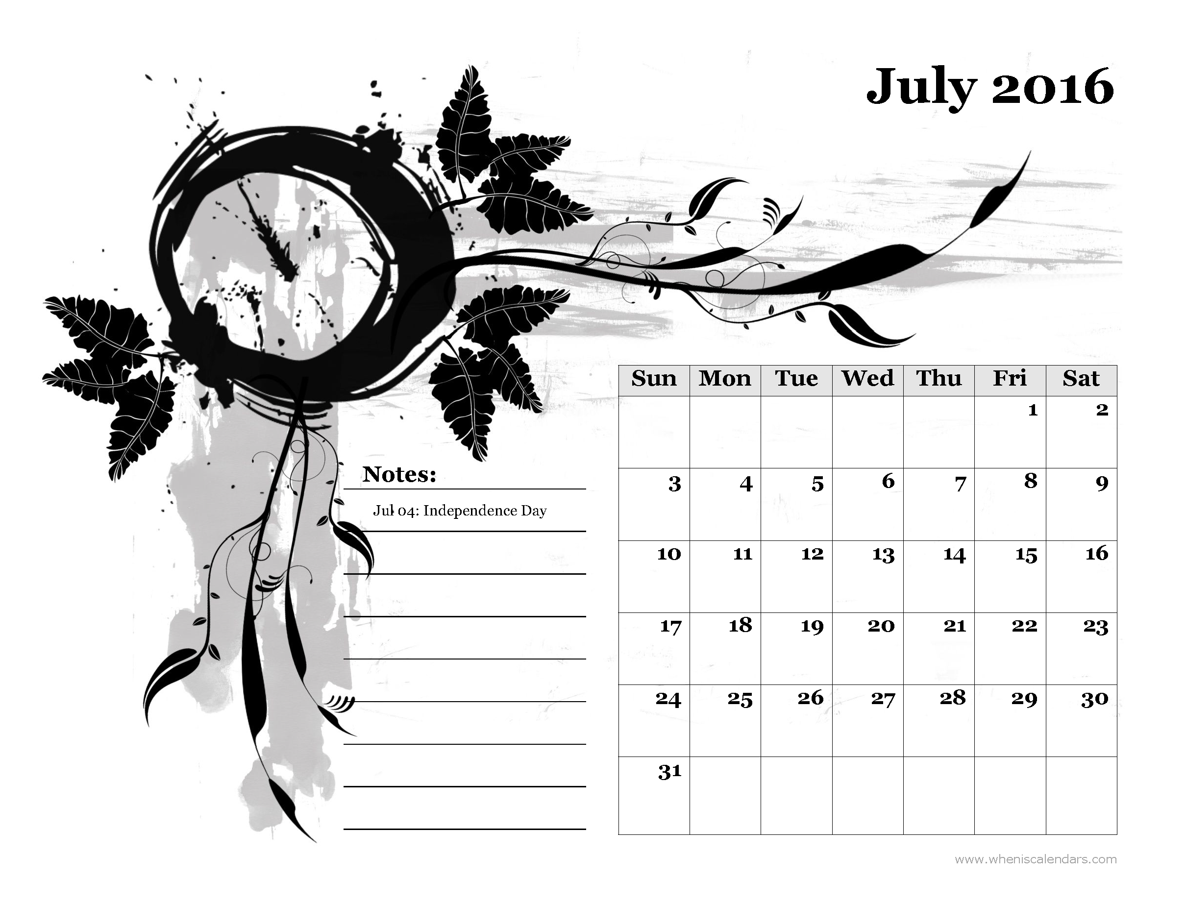 Calendar july 2016 clipart vector free stock July 2016 Calendar Pdf vector free stock