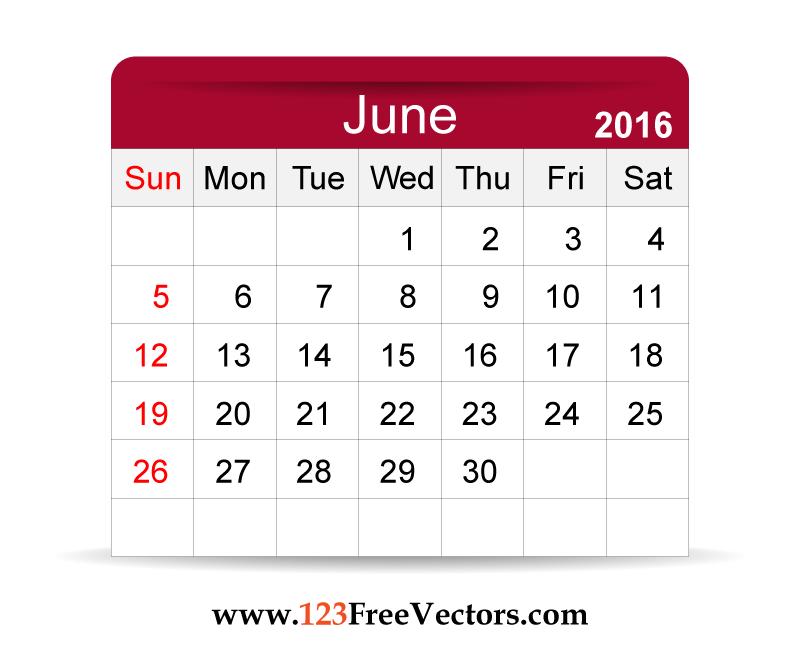Calendar june clipart vector freeuse stock Calendar june clipart - ClipartFest vector freeuse stock