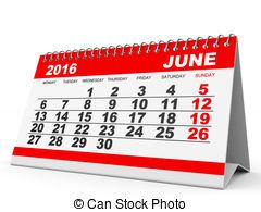 Calendar june clipart clip art freeuse download Stock Illustration of Calendar June 2016. - Calendar June 2016 on ... clip art freeuse download