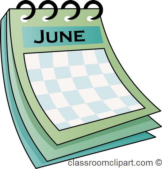 Calendar june clipart. Clipartfest