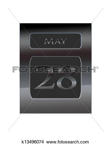 Calendar may 28 clipart banner free library Drawings of Metal calendar May 28. k13496074 - Search Clip Art ... banner free library