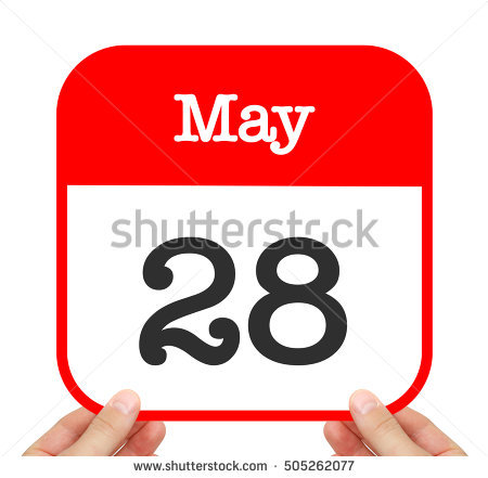 Calendar may 28 clipart png library May 28 Sign Stock Images, Royalty-Free Images & Vectors | Shutterstock png library