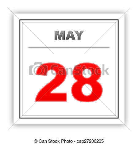 Calendar may 28 clipart graphic download Stock Illustration of May 28. Day on the calendar. 3d csp27206205 ... graphic download