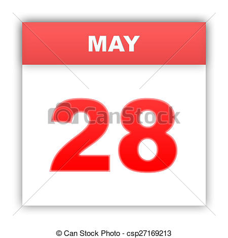 Calendar may 28 clipart image free library Clipart of May 28. Day on the calendar. 3d csp27169213 - Search ... image free library