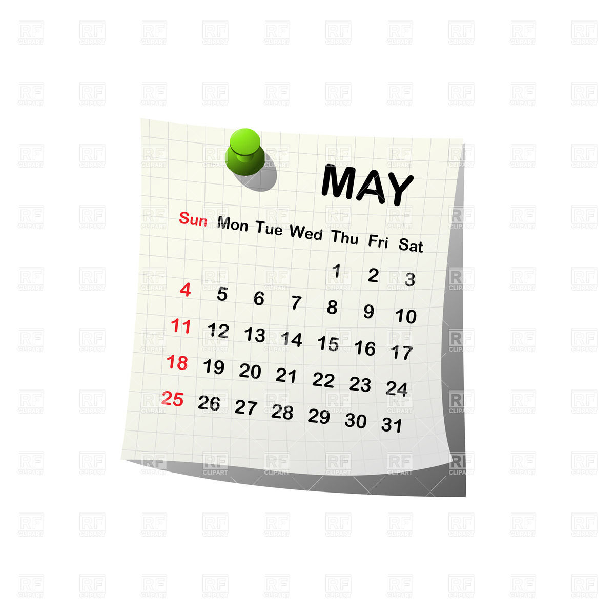 Calendar may 28 clipart picture freeuse download May Calendar Clipart - Clipart Kid picture freeuse download