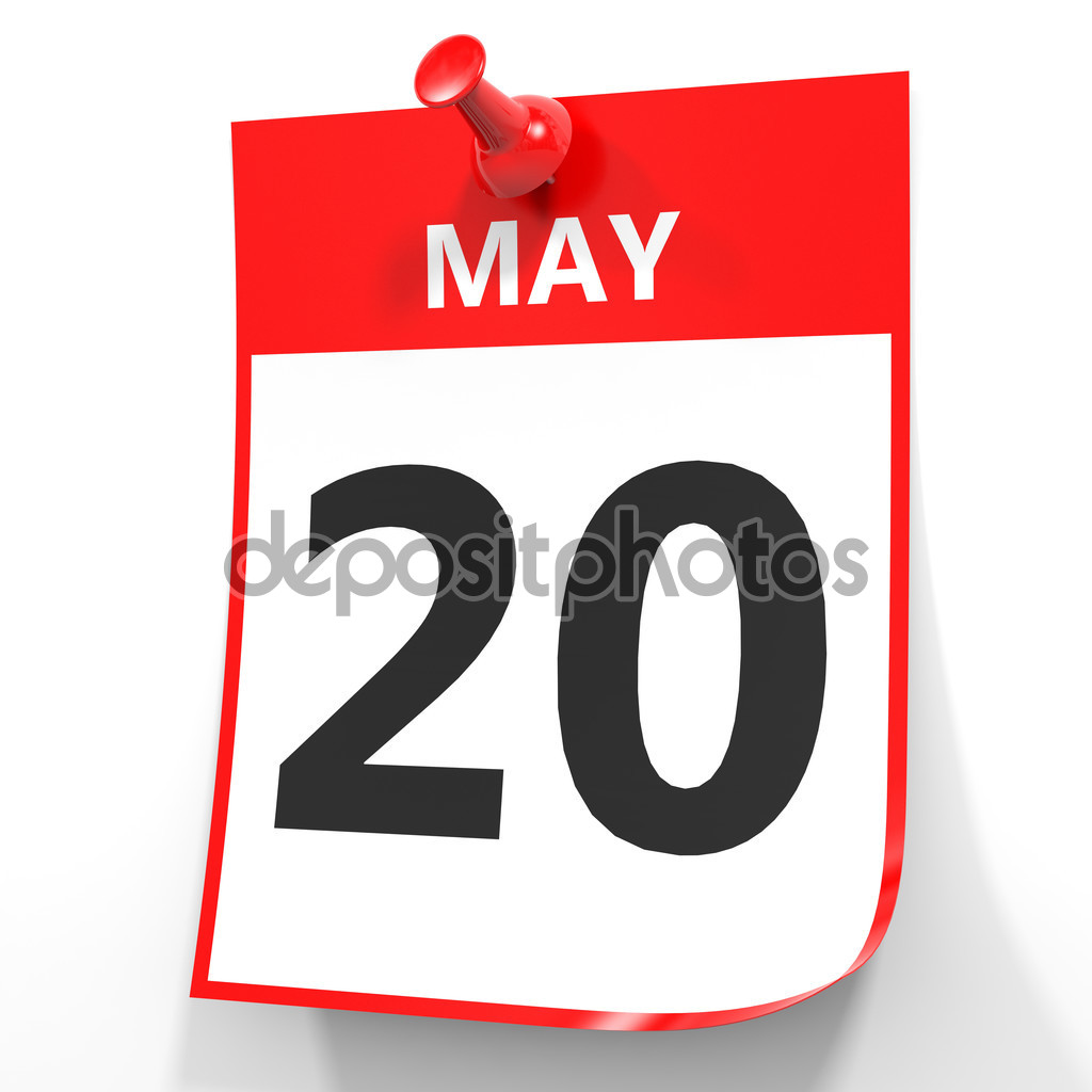 May 20. Calendar on white background. — Stock Photo © iCreative3D ... transparent