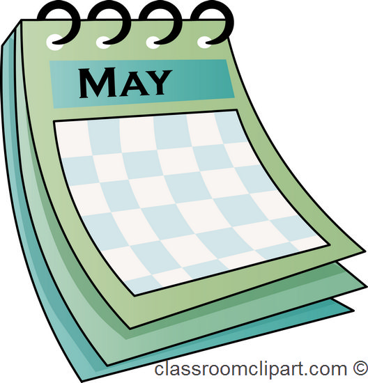 May calendar clipart - ClipartFest picture library library
