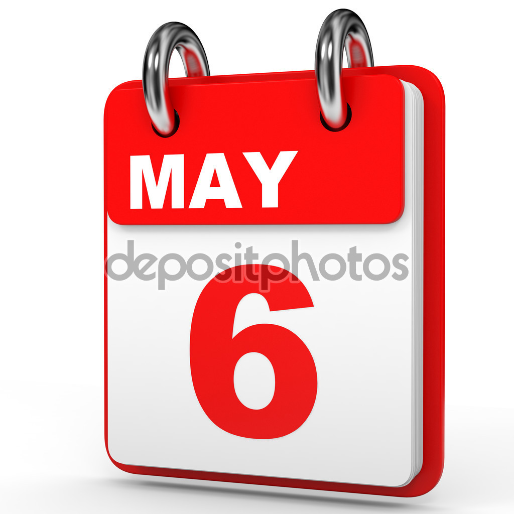 May 6. Calendar on white background. — Stock Photo © iCreative3D ... vector