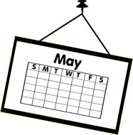Clipart may calendar - ClipartFest svg free stock