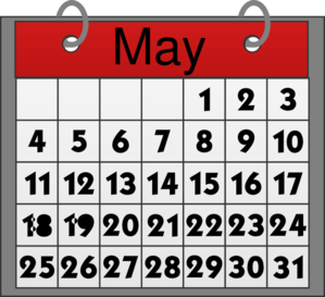 Calendar may background clipart - ClipartFest svg
