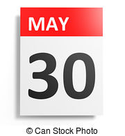 Calendar on white background 30 may Clipart and Stock ... png