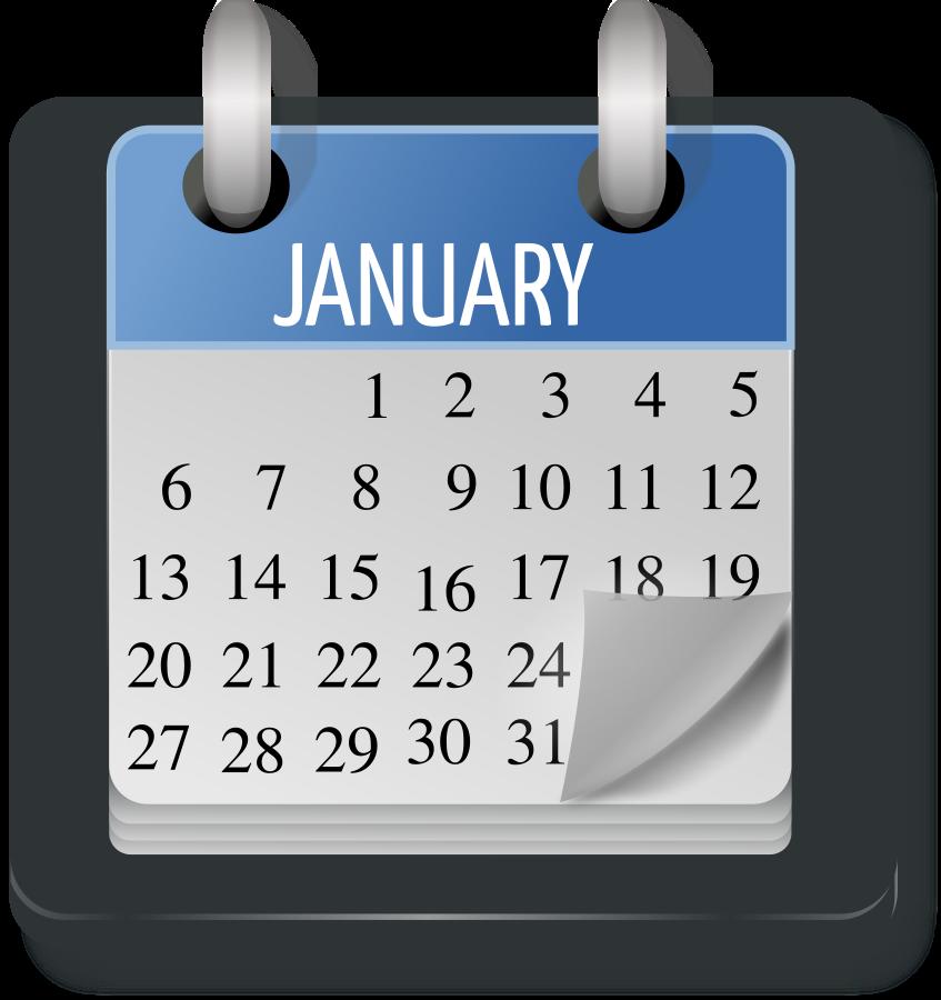 Calendar month clipart transparent Calendar Month small clipart 300pixel size, free design - ClipartsFree transparent