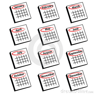 Calendar month clipart image black and white stock Calendar month clipart - ClipartFest image black and white stock