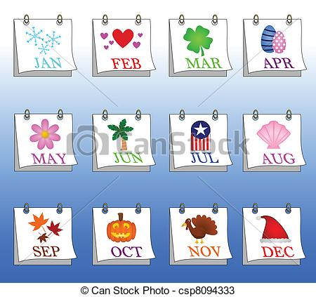 With year clipartfest stock. Calendar month clipart